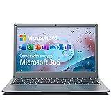 Jumper Laptop 13.3 Zoll (Microsoft Office 365, 4GB+128GB, Full HD Notebook, Win 10, Intel Celeron CPU, Dualband WLAN, Unterstüt 256GB TF Karte und 1TB SSD Erweiterung) mit QWERTZ Tastaturfolie-Layout