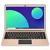HAOQIN Laptops 13,3 Zoll Intel Celeron N3450 Quad-Core 4GB RAM 64GB EMMC 1920x1080 FHD IPS-Display WiFi Bluetooth 4.0 HDMI Fingerabdruck Entsperren Golden
