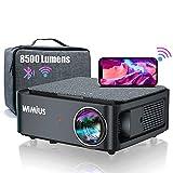 Beamer, Full HD 1080P 8500 Lumen Beamer 5G WiFi Bluetooth Beamer Unterstützung 4K Video, LED Heimkino Video Beamer 300 '' Display, kompatibel mit Fire Stick,Smartphone,PS5 Projektor