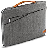 deleyCON 16' - 17,3' Zoll Notebook Tasche für Netbook Laptop (40,64cm - 43,94cm) Laptoptasche aus robustem Nylon 2 Zubehörfächer verstärkte Polsterwände - Grau